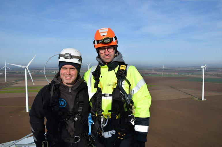 Inspection sur le parc éolien COR avec windpunx